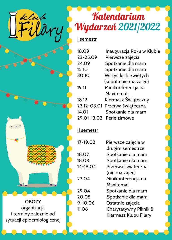 Kalendarium Wydarzeń Klub Filary